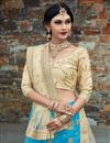 photo of Exclusive Embroidered Fancy Wedding Wear Lehenga In Sky Blue
