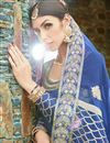 photo of Exclusive Long Anarkali Salwar Kameez In Blue With Embroidery Work