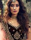 photo of Maroon Color Designer Wedding Wear Velevet Fabric Embroidered Lehenga