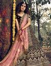image of Maroon Color Designer Wedding Wear Velevet Fabric Embroidered Lehenga