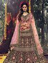 image of Wedding Wear Maroon Color Designer Velevet Fabric Embroidered Lehenga Choli