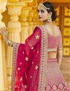 photo of Pink Color Wedding Wear Velvet Fabric Embroidered Lehenga Choli