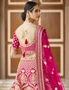 picture of Wedding Wear Pink Color Embroidered Lehenga Choli In Velvet Fabric