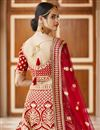 picture of Wedding Wear Red Color Embroidered Lehenga Choli In Velvet Fabric