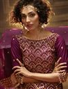 photo of Purple Color Function Wear Fancy Sequins Work Sharara Suit In Net Fabric
