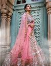 photo of Exclusive Fancy Off White Color Bridal Wear Designer Georgette Lehenga With Embroidery Design