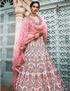 image of Exclusive Fancy Off White Color Bridal Wear Designer Georgette Lehenga With Embroidery Design