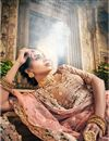 photo of Exclusive Embroidered Georgette Wedding Wear Designer 3 Piece Lehenga Choli In Fancy Chikoo Color