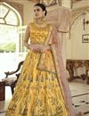 image of Art Silk Festive Wear Readymade Indo Western Lehenga In Yellow