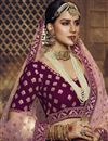photo of Embroidered Purple Color Wedding Function Wear Georgette Fabric Lehenga Choli