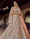 image of Pink Color Wedding Wear Deigner Lehenga Choli