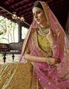 photo of Trendy Yellow Color Organza Fabric Reception Wear Lehenga Choli