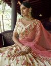 photo of Sangeet Wear Beige Color Georgette Fabric Designer Lehenga Choli