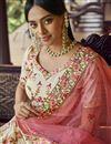 picture of Sangeet Wear Beige Color Georgette Fabric Designer Lehenga Choli