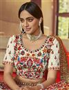 photo of Art Silk Fabric Wedding Wear Lehenga Choli In Beige Color