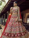 image of Art Silk Fabric Wedding Wear Lehenga Choli In Beige Color