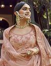 photo of Peach Georgette Fabric Designer Wedding Wear Lehenga Choli