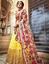 photo of Exclusive Embroidered Net Fabric Bridal Lehenga In Yellow Color with Designer Choli