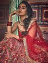 photo of Exclusive Art Silk Fabric Pink Color Reception Wear Lehenga Choli With Embroidery Work