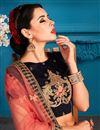 photo of Exclusive Sangeet Ceremony Wear Navy Blue Lehenga Choli In Satin Fabric