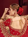 photo of Embellished Designer Wedding Wear Satin Fabric Fancy Lehenga In Beige
