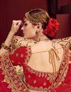 photo of Embellished Designer Wedding Wear Satin Fabric Fancy Lehenga In Beige
