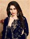photo of Eid Special Embroidery Work On Navy Blue Color Party Wear Palazzo Suit In Georgette Fabric