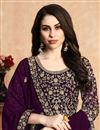 photo of Eid Special Purple Color Georgette Fabric Long Fancy Anarkali Suit