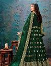 picture of Dark Green Color Embroidered Anarkali Salwar Kameez