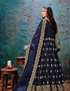 picture of Navy Blue Color Georgette Fabric Function Wear Embroidered Anarkali Suit