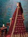 picture of Occasion Wear Maroon Color Embroidered Anarkali Salwar Kameez