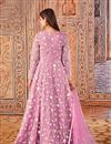 photo of Pink Color Party Style Embroidered Net Fabric Anarkali Suit