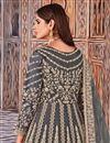 photo of Grey Color Festive Wear Embroidered Net Fabric Anarkali Salwar Kameez