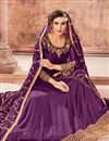 photo of Function Wear Purple Long Length Anarkali Suit In Georgette With Embroidered Dupatta