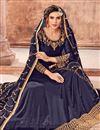 photo of Navy Blue Designer Floor Length Anarkali Suit In Georgette With Embroidered Dupatta