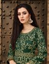 photo of Taffeta Silk Embroidered Dark Green Designer Floor Length Anarkali Dress