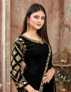 photo of Art Silk Fabric Black Function Wear Patiala Suit With Embroidery Work
