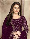 photo of Festive Wear Georgette Fancy Embroidered Anarkali Suit In Purple
