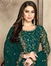 photo of Eid Special Teal Festive Wear Fancy Embroidered Anarkali Suit In Georgette