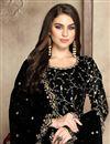 photo of Eid Special Fancy Georgette Festive Wear Embroidered Black Anarkali Dress