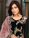 photo of Georgette Fabric Party Wear Embroidered Salwar Suit In Black Color