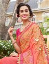 photo of Occasion Wear Art Silk Fabric Saree In Pink Color With Embroidered Border And Blouse