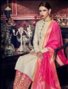photo of Party Wear Embroidered Palazzo Suit In Art Silk Fabric