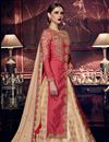 photo of Festive Wear Anarkali Salwar Suit In Crimson Color Art Silk Fabric