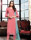 photo of Occasion Wear Pink Straight Cut Salwar Kameez In Satin Fabric