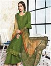 photo of Green Embroidered Festive Wear Palazzo Suit In Satin