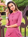 photo of Pink Party Wear Cotton Fabric Designer Kurti With Palazzo