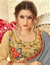 photo of Grey Georgette Embroidered Party Wear Fancy Saree