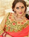photo of Salmon Georgette Embroidered Party Wear Fancy Saree
