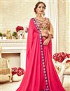 image of Georgette Party Style Embroidered Saree In Pink